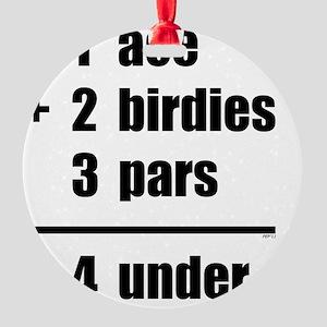 Scorecard Round Ornament