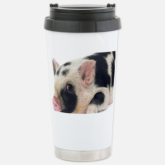 Micro pig chilling out Stainless Steel Travel Mug