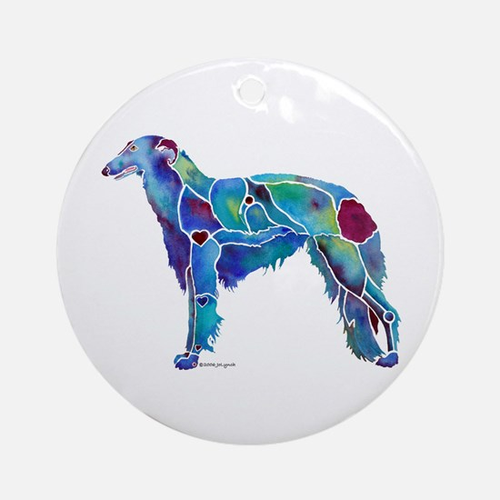 BR-NC Emily Borzoi Products Ornament (Round)