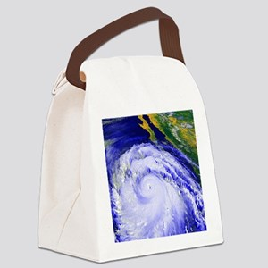 Coloured satellite image of Hurri Canvas Lunch Bag