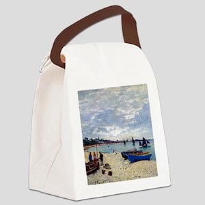 Monet The Beach at Sainte Adresse Canvas Lunch Bag