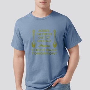 FRESH OUT OF SPOONS Mens Comfort Colors Shirt
