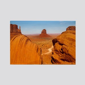 Boulders at Monument Valley Rectangle Magnet