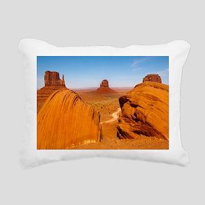 Boulders at Monument Val Rectangular Canvas Pillow