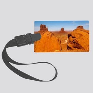 Boulders at Monument Valley Large Luggage Tag