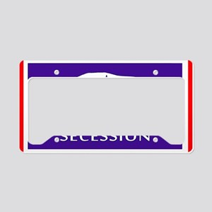 Flag of Secession with Americ License Plate Holder