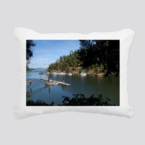 View of the Harbour Rectangular Canvas Pillow