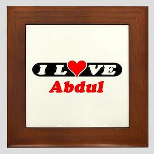 I Love Abdul Framed Tile