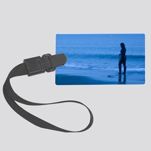 Winter Surfer Large Luggage Tag