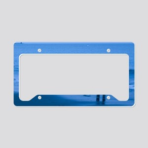 Winter Surfer License Plate Holder