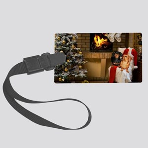 By the Fireplace Large Luggage Tag