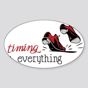Timing Is Everything Sticker (Oval)