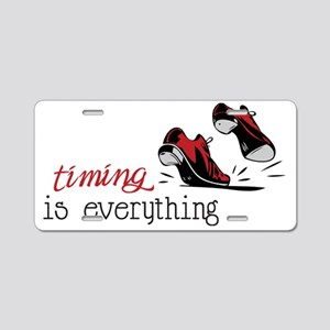 Timing Is Everything Aluminum License Plate