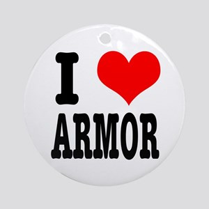 I Heart (Love) Armor Ornament (Round)