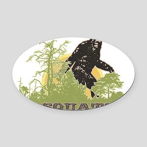 Sasquatch Oval Car Magnet