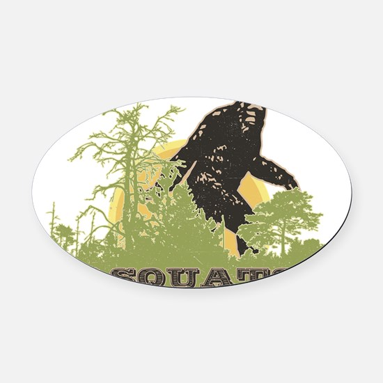 Sasquatch Oval Car Magnet