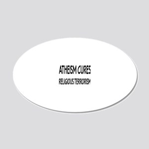atheismcuresrectangle 20x12 Oval Wall Decal