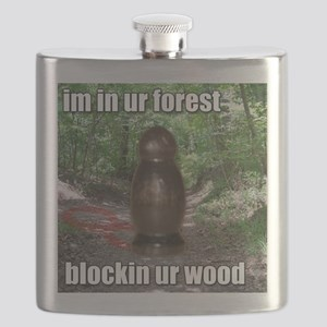 Wood Blockin Flask
