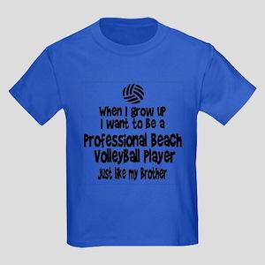 WIGU Pro Beach Volleyball Brother Kids Dark T-Shir