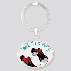 Feel The Magic Oval Keychain