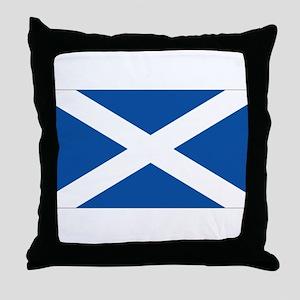 Scotish flag Throw Pillow
