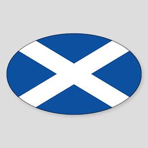 Scotish flag Oval Sticker