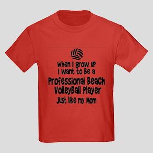 WIGU Pro Beach Volleyball Mom Kids Dark T-Shirt