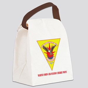 Marine Corps Air Station Cherry P Canvas Lunch Bag