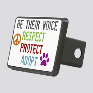 Respect Protect Adopt Rectangular Hitch Cover