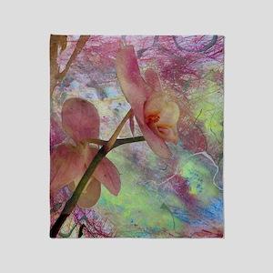 Hidden Orchid Throw Blanket