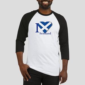 I love Scotland Baseball Jersey