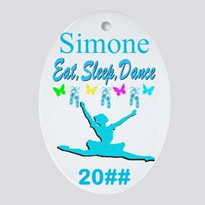 Eat, Sleep, Dance Oval Ornament