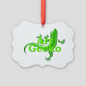 Art Gecko Picture Ornament