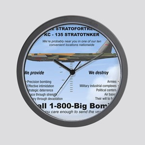 B-52 Stratofortress SAC 1-800-Big-Bomb Wall Clock