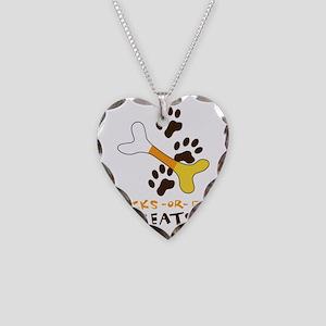Dog Treats Necklace Heart Charm