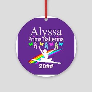 Prima Ballerina Round Ornament