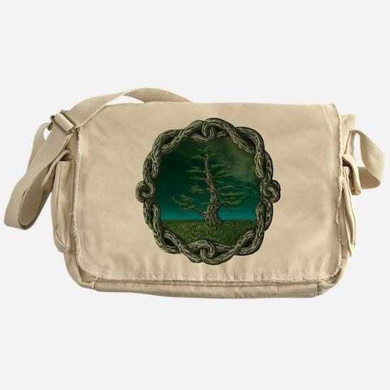 Celtic Knot Tree Messenger Bag