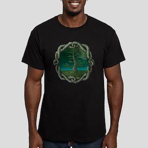 Celtic Knot Tree Men's Fitted T-Shirt (dark)