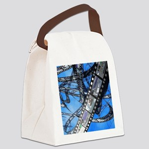 Photographic film, computer artwo Canvas Lunch Bag