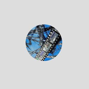 Photographic film, computer artwork Mini Button