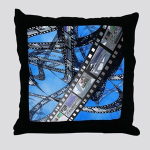 Photographic film, computer artwork Throw Pillow