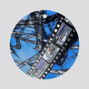 Photographic film, computer artwork Round Ornament