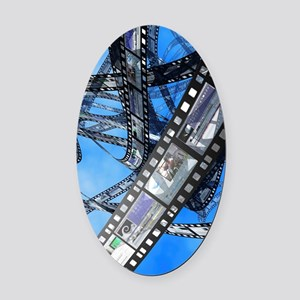Photographic film, computer artwor Oval Car Magnet