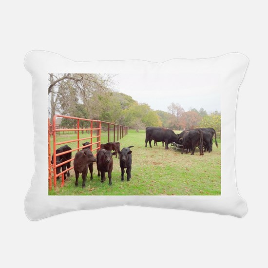 Calves with Mothers in N Rectangular Canvas Pillow