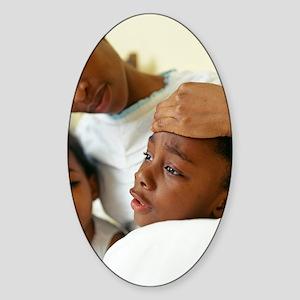 Feverish child Sticker (Oval)