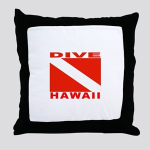 Dive Hawaii Throw Pillow