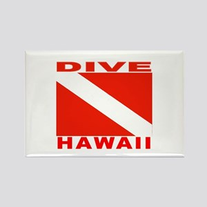 Dive Hawaii Rectangle Magnet