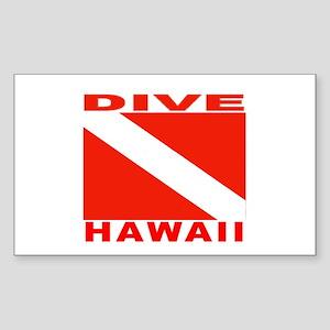 Dive Hawaii Rectangle Sticker