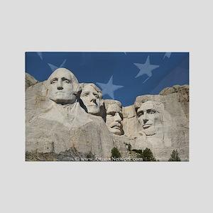 Patriotic Mt Rushmore Rectangle Magnet