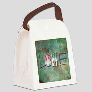 I love Toothbrushes Canvas Lunch Bag